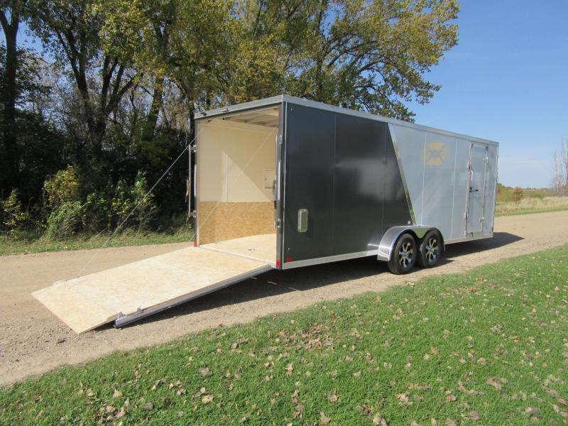 2020 7'x27' Discovery Aluminum Enclosed Snowmobile Trailer
