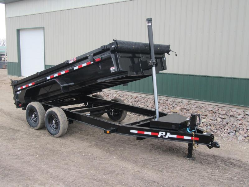 2020 PJ 14' x 83 Low Pro Telescopic Dump Trailer