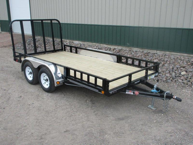 "2020 PJ Trailers 83"" Wide - 4"" Channel Utility / U8 Utility Trailer"