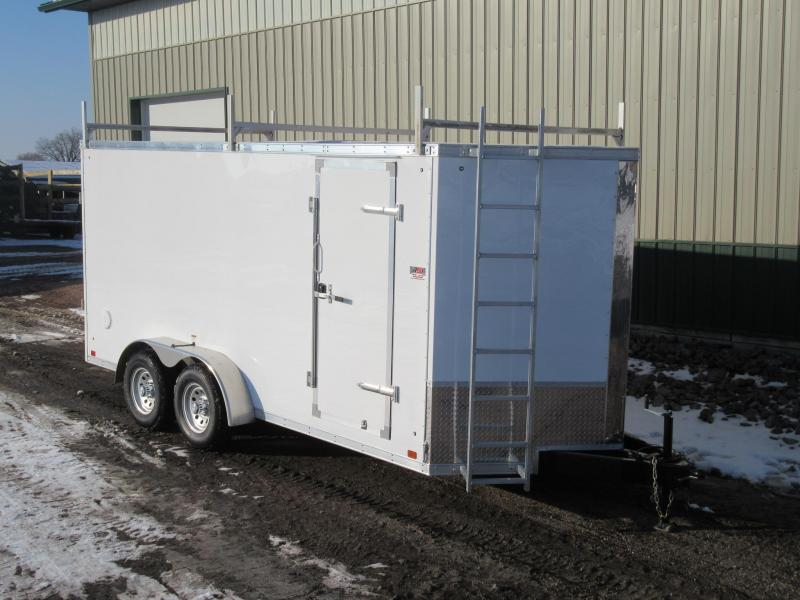 2019 7'x16' Discovery Enclosed Construction Trailer Enclosed Cargo Trailer