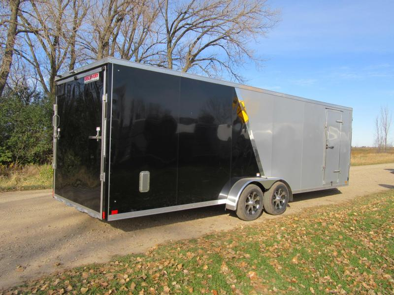2020 7'x29' Discovery Aluminum Enclosed Snowmobile Trailer