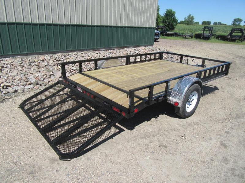 "2020 PJ Trailers 12'x83"" Channel Utility Utility Trailer"