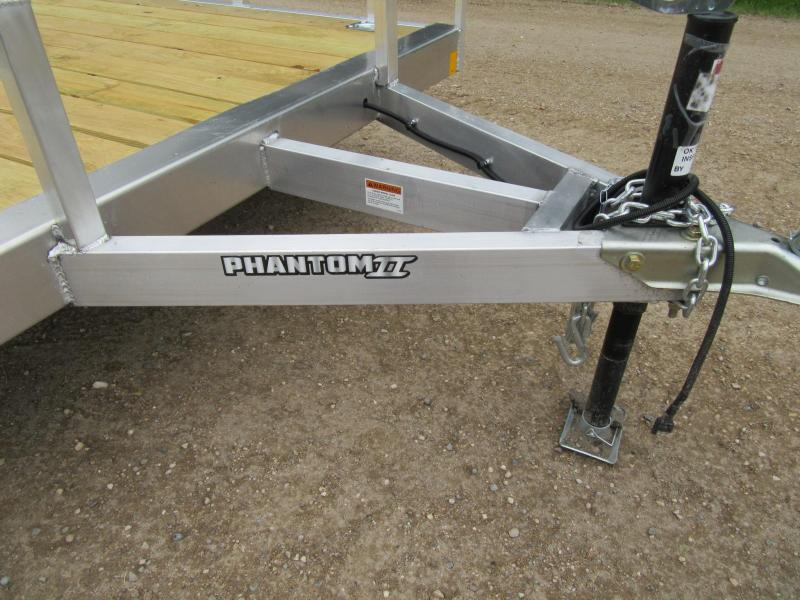 2020 6.5'x14' Stealth Phantom Aluminum Utility Trailer