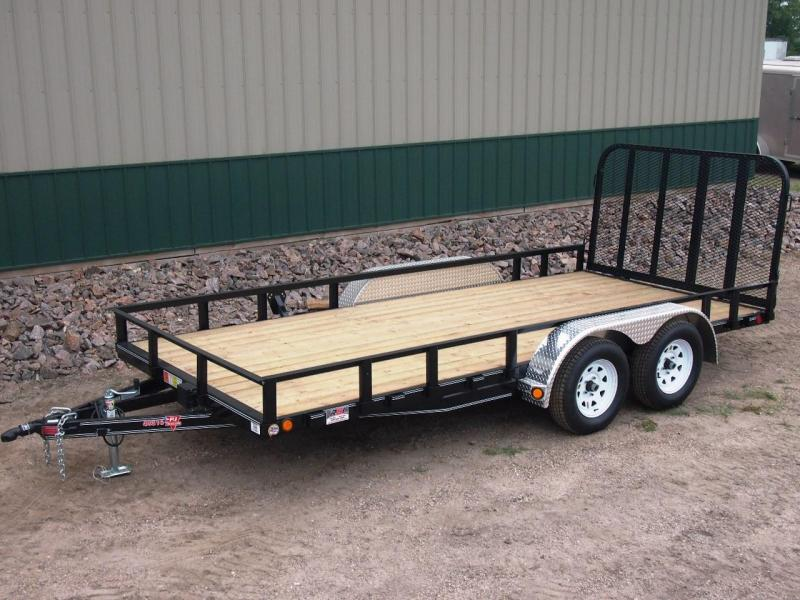 "2018 PJ Trailers 16 x 83"" Channel Utility Trailer"