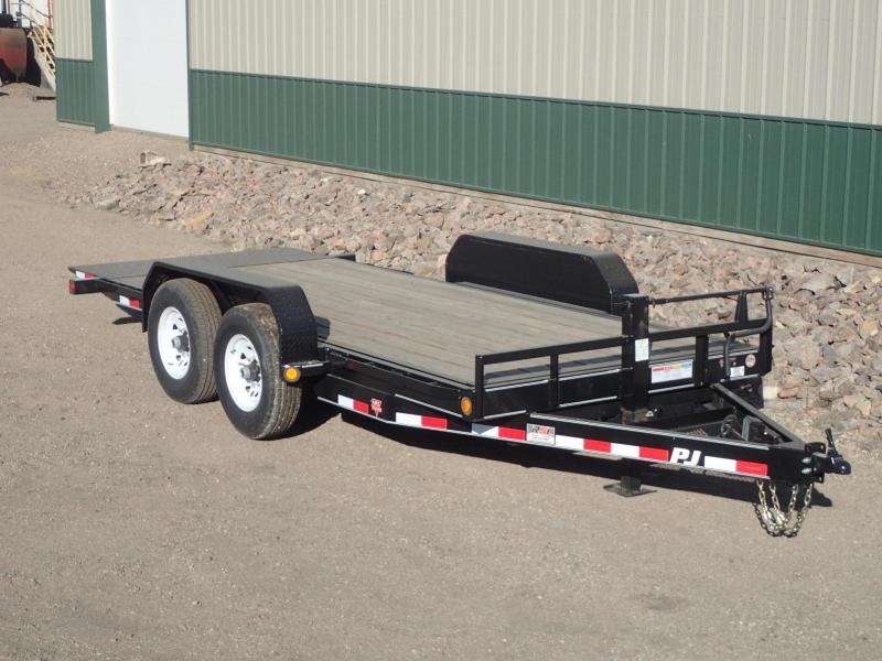 "2020 PJ Trailers 16'x6"" Channel Equipment Tilt Equipment Trailer"