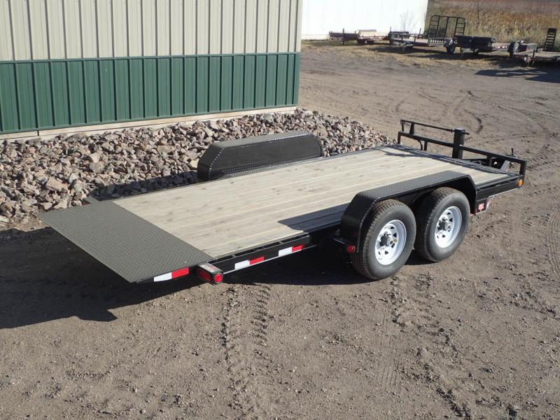 "2020 PJ Trailers 16'x6"" Channel Equipment Tilt Trailer"