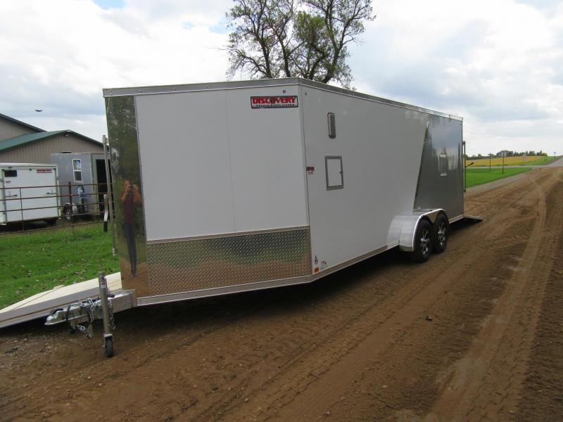 2020 7'x25' Discovery Aluminum Enclosed Snowmobile Trailer