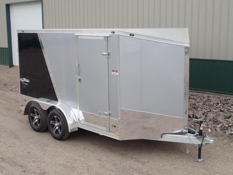 2017 7'x12' Stealth Aluminum Blackhawk Motorcycle Trailer