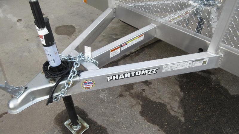 2020 6.5'x12' Stealth Phantom Aluminum Utility Trailer
