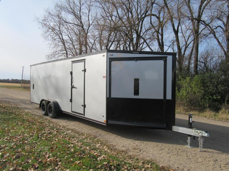 2020 7'x27' Stealth Predator Aluminum Enclosed Snowmobile Trailer