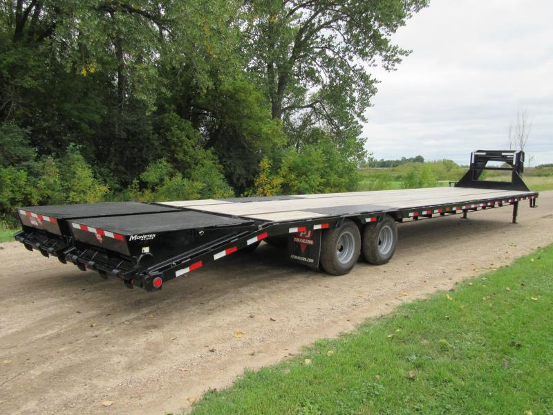 2019 PJ 40' Low-Pro Gooseneck Flatbed Trailer