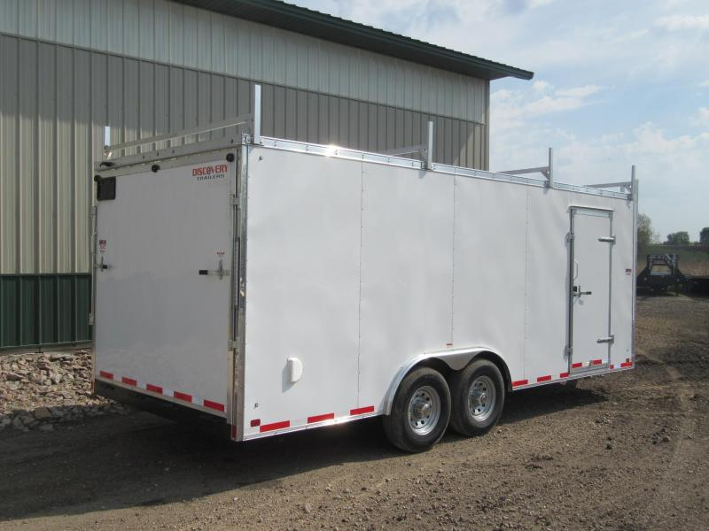 2019 8.5'x20' Discovery Enclosed Construction Trailer