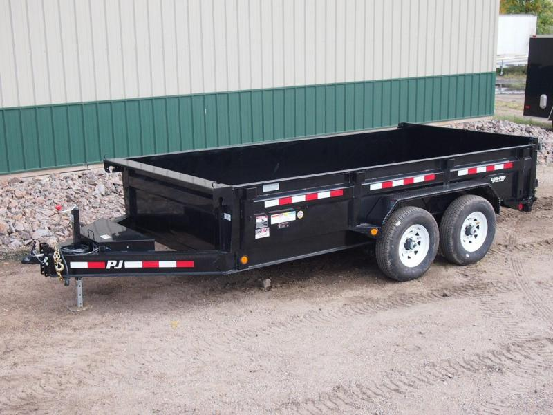 "2020 PJ 14' x 83"" 14k Low-Pro Dump Trailer w/Fork Holder"