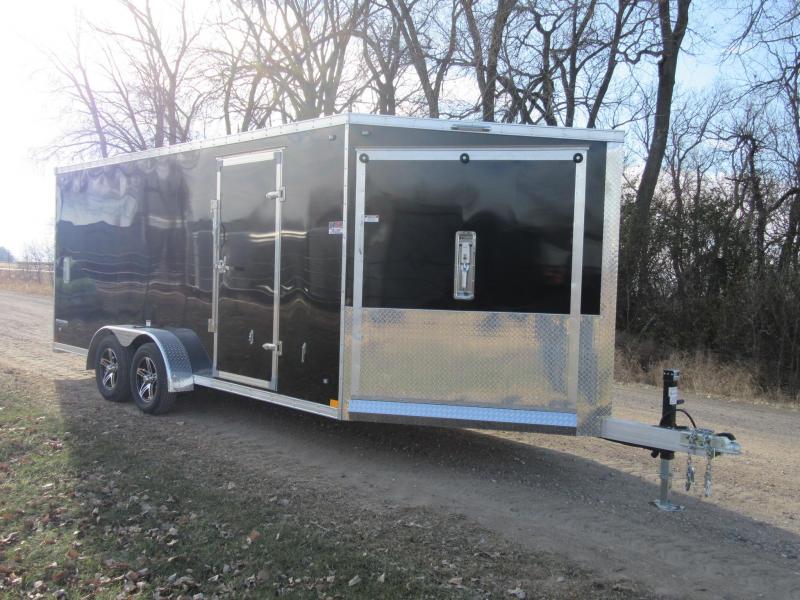 2020 7'x23' Stealth Predator Aluminum Enclosed Snowmobile Trailer