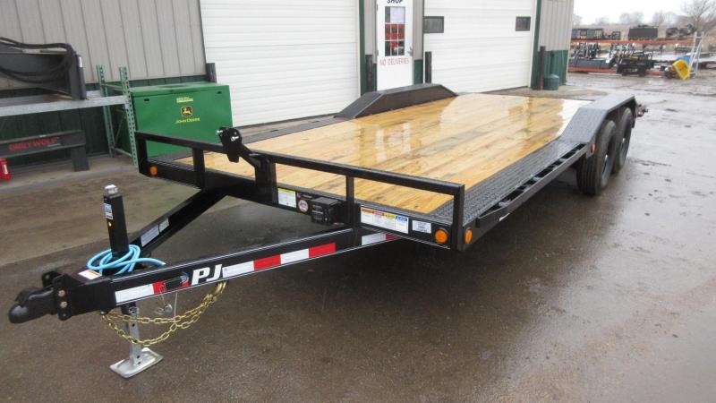 "2020 PJ 20' x 5"" Channel Super-Wide Equipment Trailer"