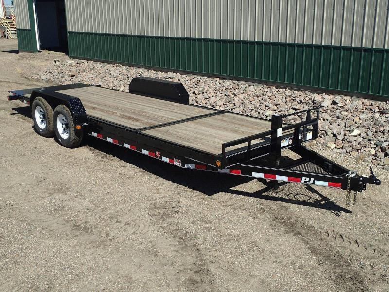 "2020 PJ Trailers 22'x6"" Channel Equipment Tilt Equipment Trailer"