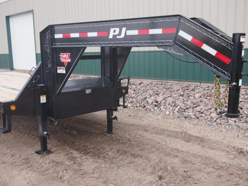 2020 PJ Trailers 30ft Low-Pro Gooseneck Flatbed Flatbed Trailer