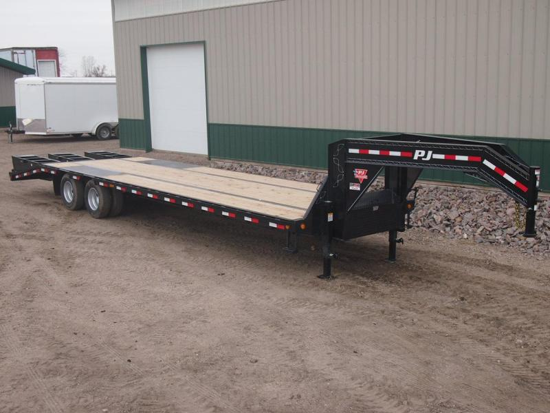 2020 PJ Trailers 30' Low-Pro Gooseneck Flatbed Trailer