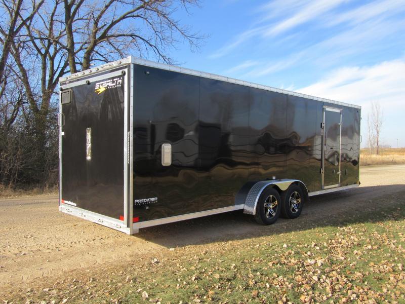 2020 7'x29' Stealth Predator Aluminum Enclosed Snowmobile Trailer