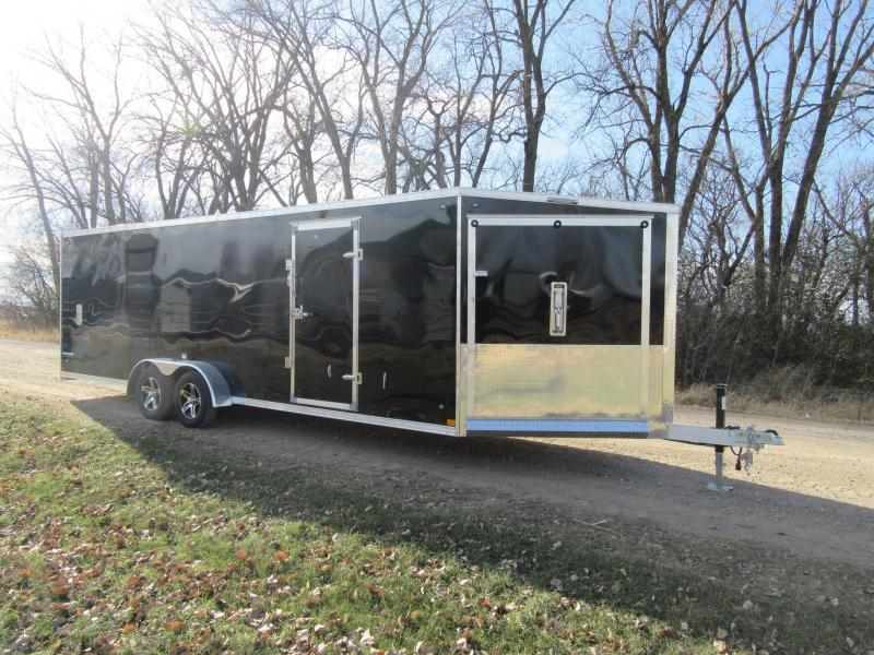2020 7'x29' Stealth Predator Aluminum Enclosed Snowmobile Trailer