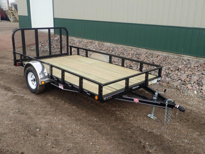 "2019 PJ 12'x77"" Single Axle Channel Utility Trailer"