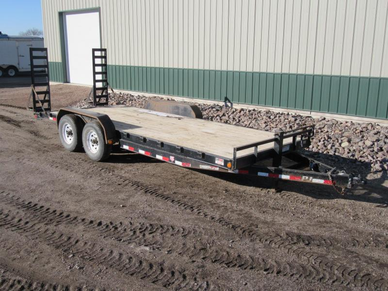 "2015 PJ Trailers 20' x 6"" Channel Equipment Trailer"