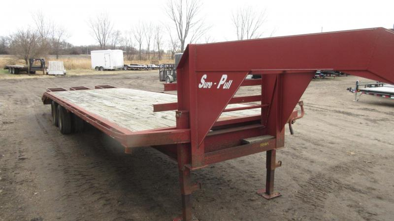 1999 Sure Pull 29' GN Flatbed w/Tandem Duals Flatbed Trailer