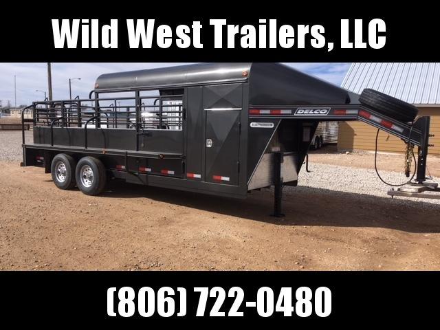 2018 Delco 3/4 Top Livestock Trailer