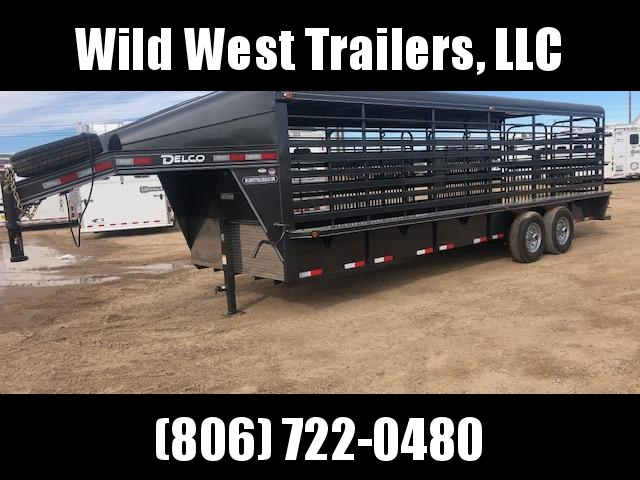 2018 Delco Trailers 24 Metal Top Livestock Trailer