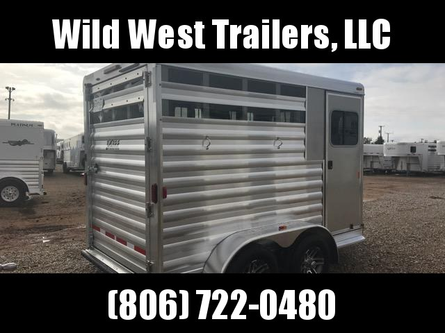 2017 Exiss Trailers 2H Slant Horse Trailer