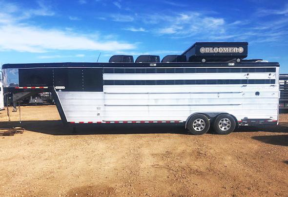 2014 24 ft Bloomer Livestock Trailer
