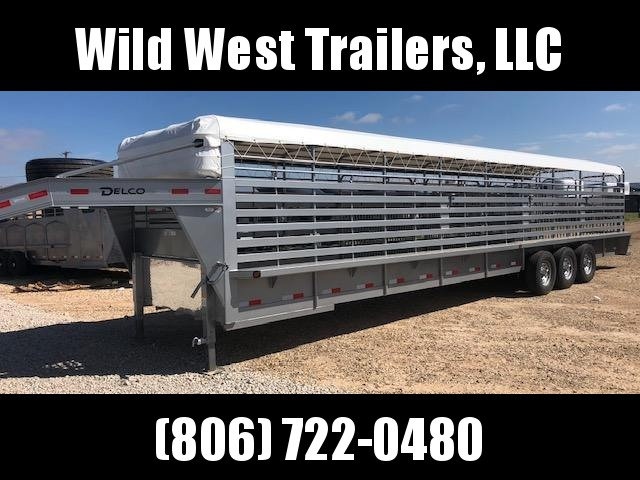 2019 Delco Trailers 36 ft Bar Top Livestock Trailer