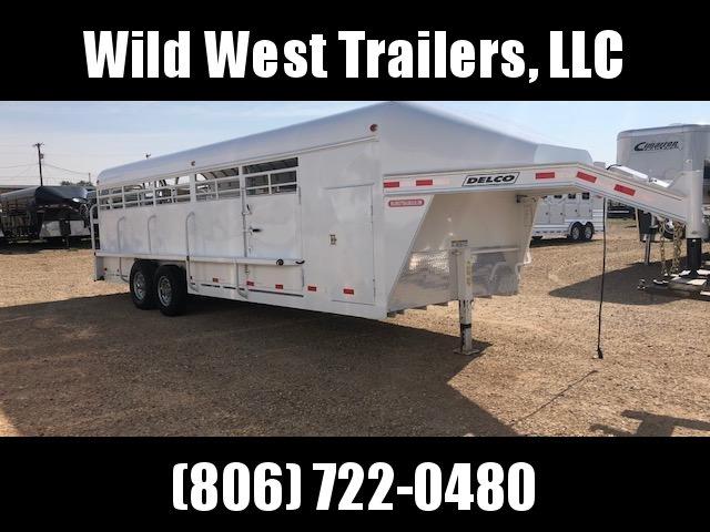 """2018 Delco 7'6"""" x 24' Livestock Trailer"""