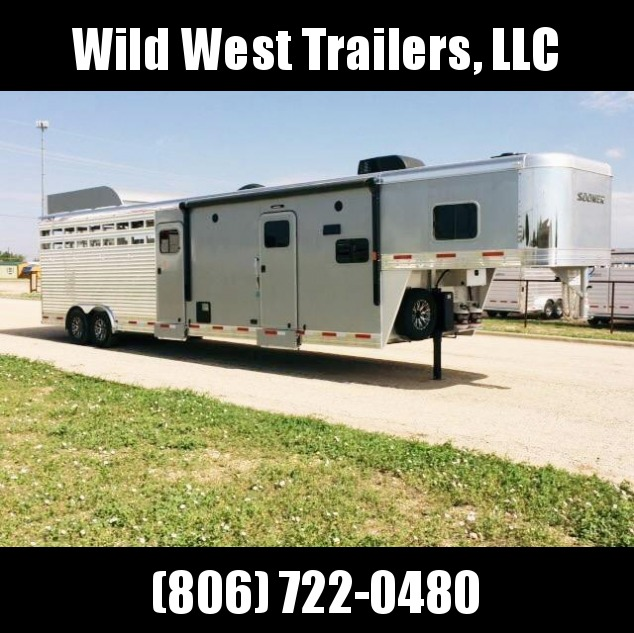 "2017 Sooner Ranch 8032 LQ - 7'6"" Tall Stock / Stock Combo Trailer"