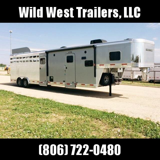 """2017 Sooner Ranch 8032 LQ - 7'6"""" Tall Stock / Stock Combo Trailer"""