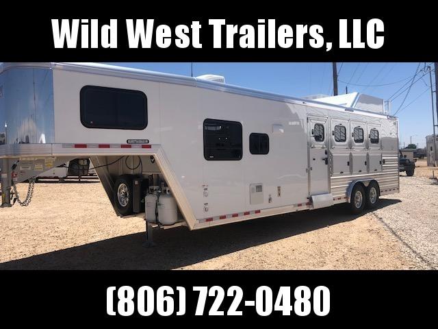 "2018 Cimarron Trailers 4H - 10 6"" SW Horse Trailer"
