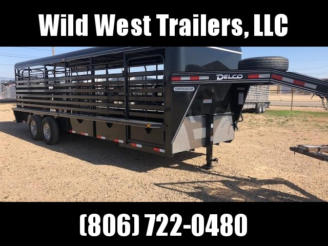 2018 Delco Trailers 24 Metal Top Livestock Trailer