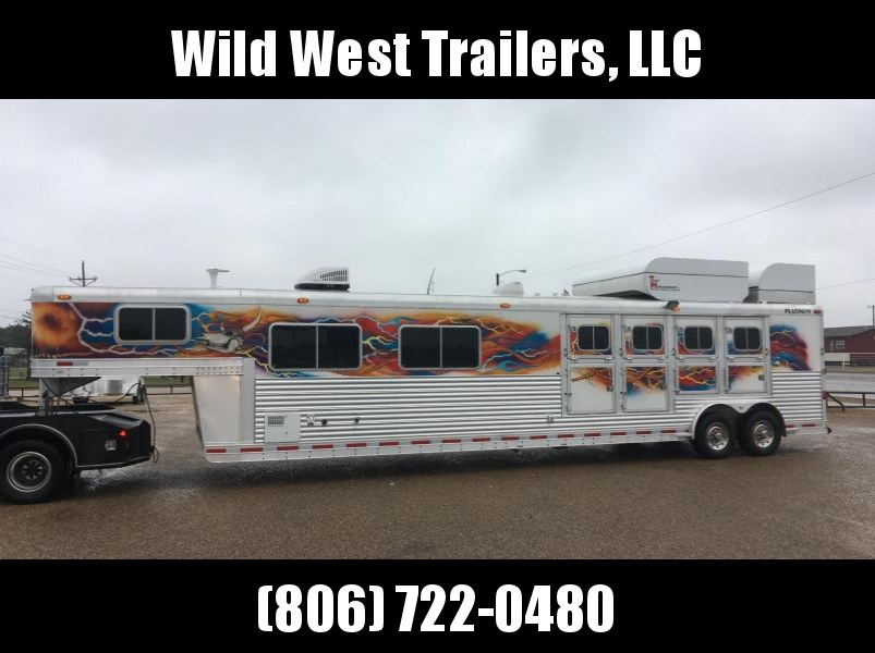 2005 Platinum Coach 4 Horse - 15 Short Wall Horse Trailer