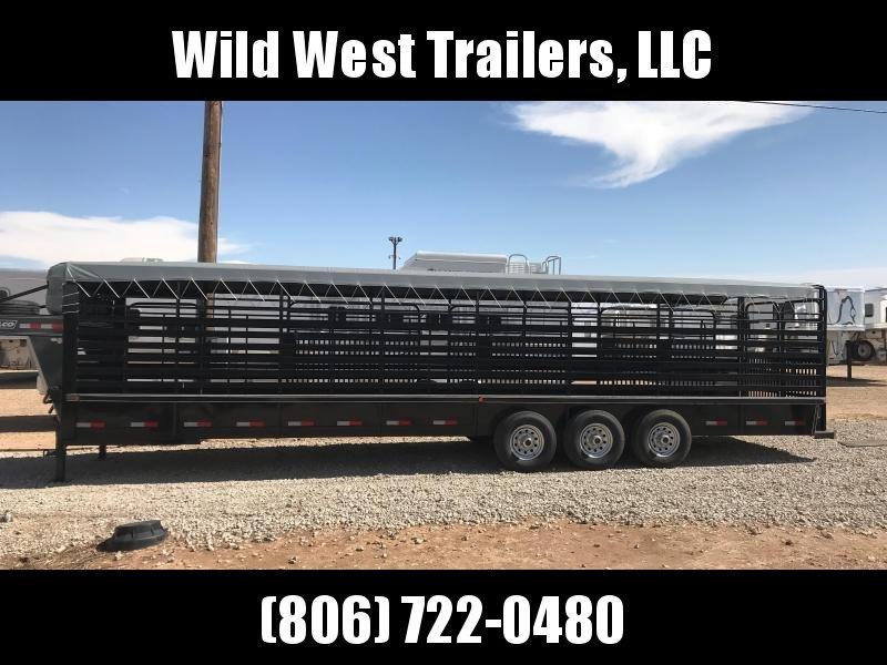 2018 Delco Tarp Top Livestock Trailer