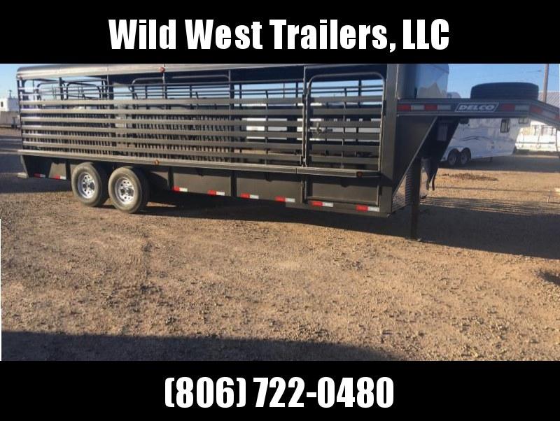 2018 Delco Trailers Metal Top Livestock Trailer