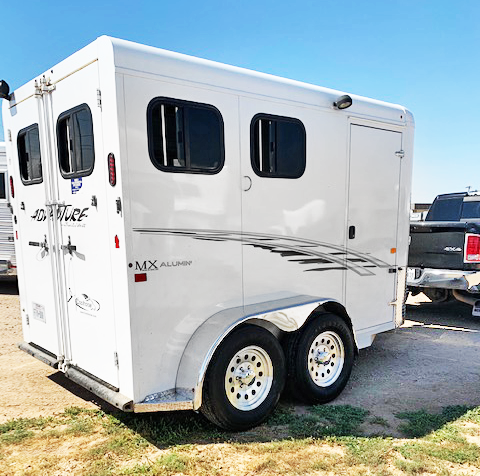 2013 Trails West 2 Horse Bumper Pull Trailer