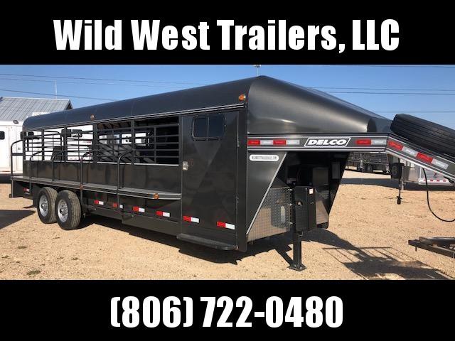 2018 Delco Trailers 24ft Full Top Livestock Trailer