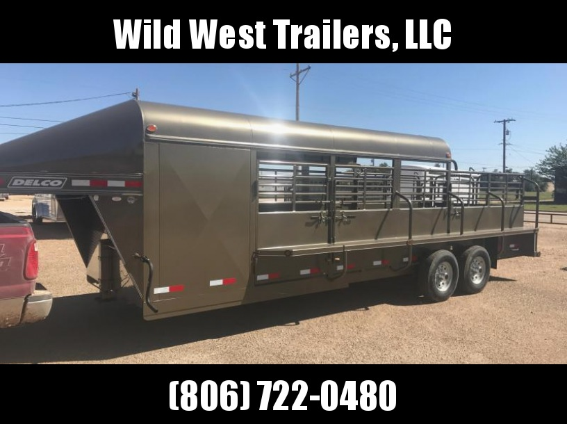 2018 Delco Trailers with Tack Room Livestock Trailer