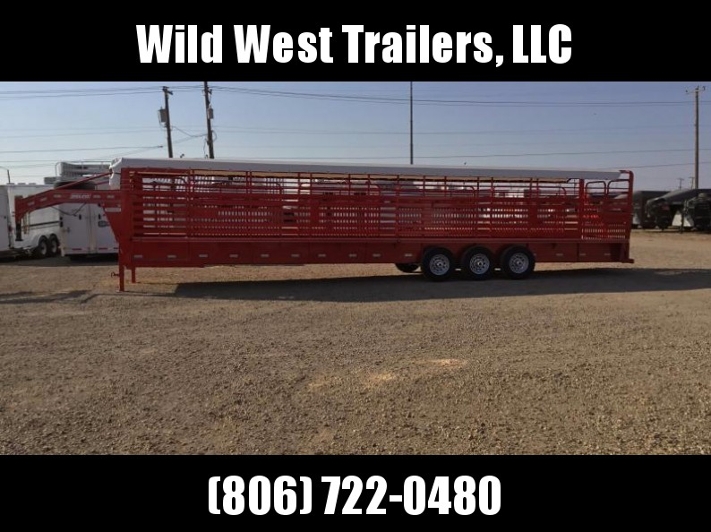 2018 Delco Trailers Bar Top Livestock Trailer