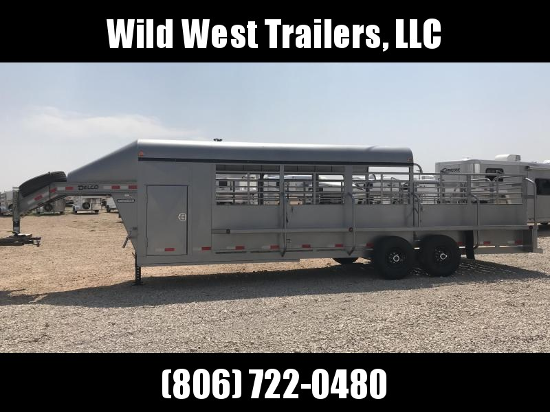 2018 Delco 3/4 Top 24ft Livestock Trailer