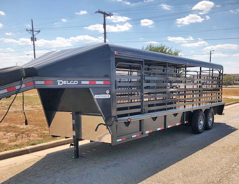2020 Charcoal 24' Delco Stock Trailer