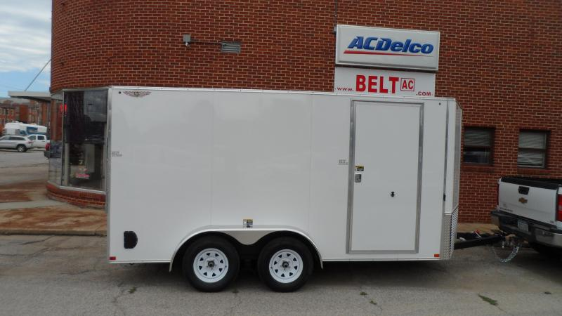2020 H and H Trailer 7X14 TANDEM FLAT TOP HH VNOSE 7K CARGO