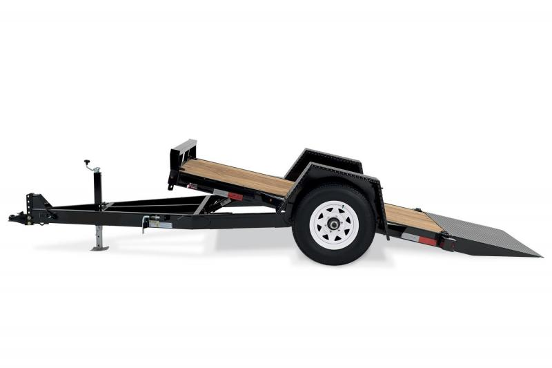 2019 H and H Gravity Tilt Single Axle Scissorlift Equipment Trailer