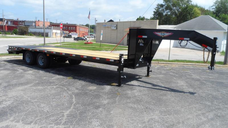 2020 H and H Trailer 20+5 19LB 20K GNLP DECKOVER SUPER DLX