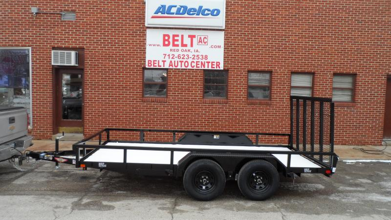 2020 H and H Trailer 82X14 STL RAIL SIDE TANDEM 7K